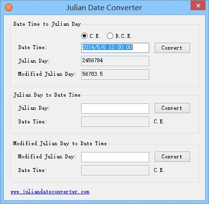 Julian date conversion in Melbourne